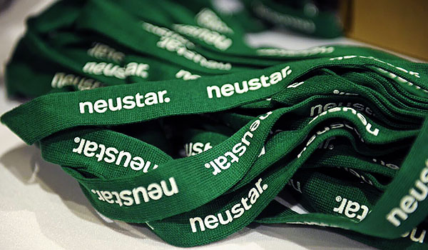 photo of a pile of neustar landyards used at numerous events